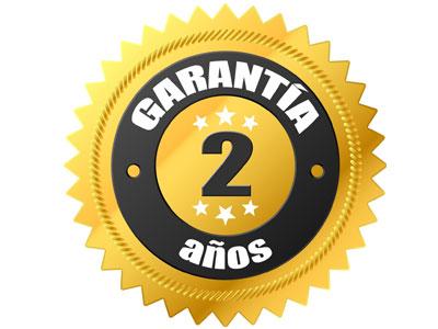 2 años de garantía total, equipos e instalación.